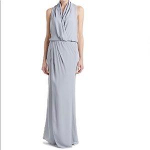 "NWT ""Parker Black"" Grey Lagos Slit Maxi Dress Gown"